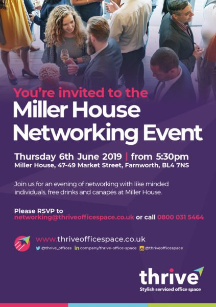 Thrive Office Space Launches Bolton Networking